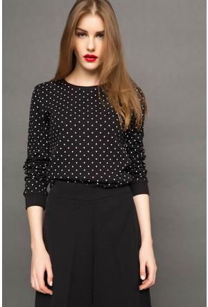 DeFacto Kadın Sweatshirt Siyah