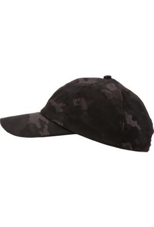 DeFacto Erkek Kamuflaj Desenli Şapka Siyah
