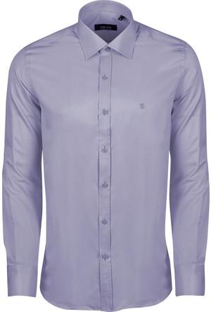 Sabri Özel Saten Regular Fit Cepsiz Gömlek