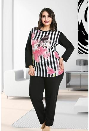 Lady Lingerie Büyük Beden Pijama Takım 117