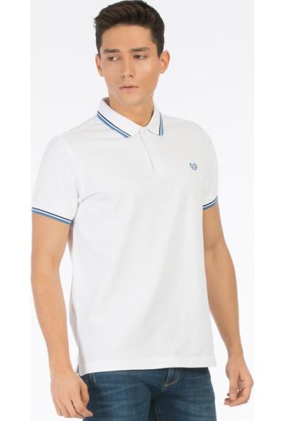 Colin's Beyaz Erkek Polo T-Shirt Kısa Kol Beyaz