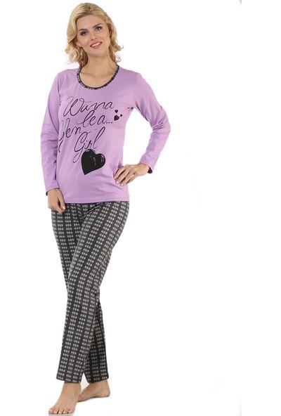 Pijama Takımı - Lila Gri - Akbeniz