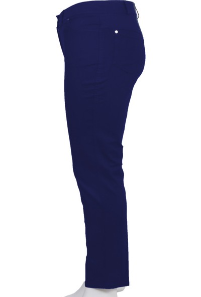 Ruşetül Süper Battal Cotton Kadın Büyük Beden Pantolon Lacivert