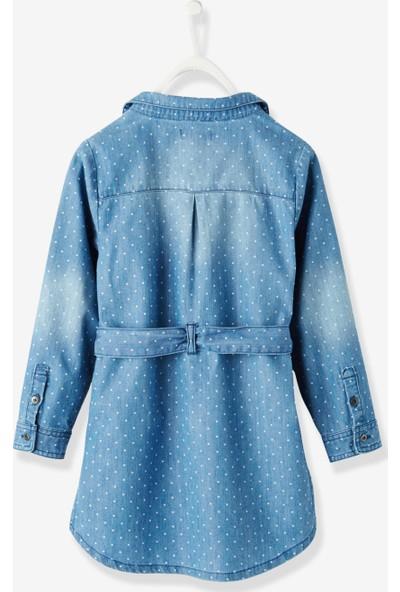 Vertbaudet Kız Çocuk Kot Gömlek Elbise