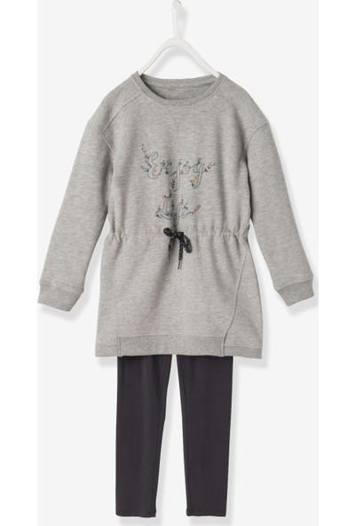 Vertbaudet Kız Çocuk Elbise ve Tayt 2'li Set