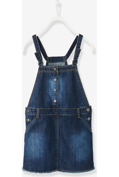 Vertbaudet Kız Çocuk Kot Salopet Elbise