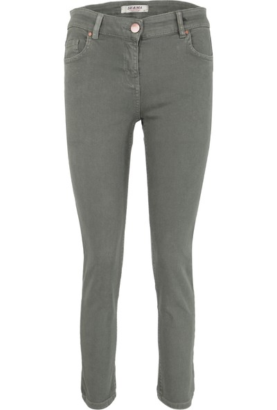 Esquema Jeans Bayan Kot Pantolon Haki 1095274