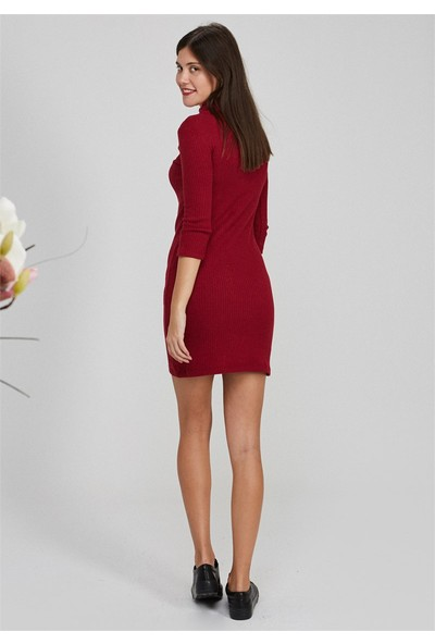 Femme Önü Nakışlı Elbise