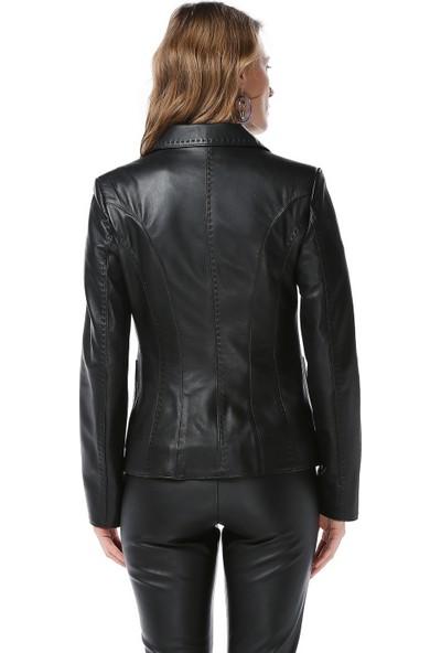 Dericlub Yb-358 Kadın Deri Ceket