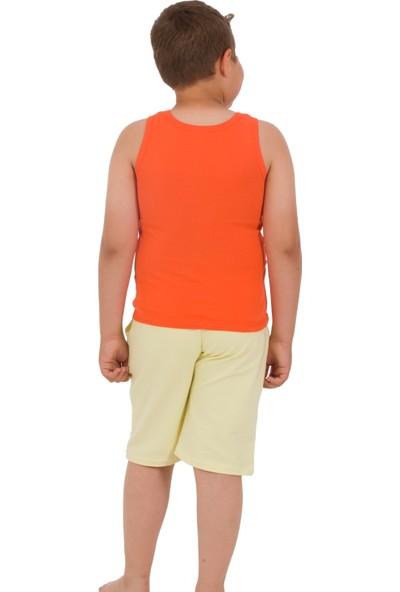 The Don Açık Sarı Renk Erkek Çocuk Uzun Şort