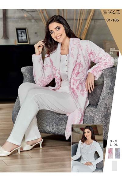 Flz 31-185 Kışlık Bayan 3'Lü Pijama Takımı