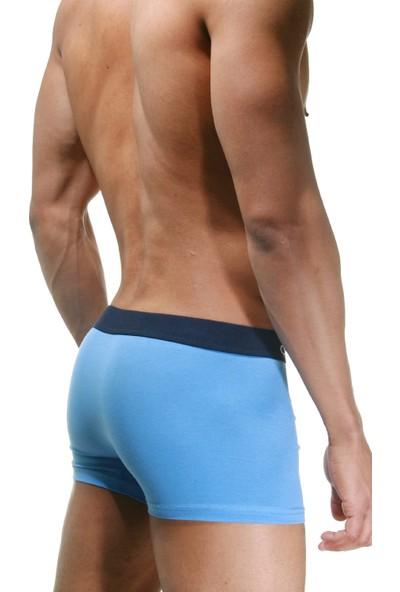 Darkzone Klasik Mavi Erkek Boxer