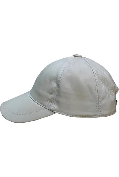 Sanal Bolluk Bej Spor Deri Şapka