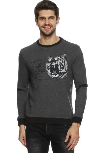 Loft Kaplan Baskılı Erkek Sweatshirt 2015844
