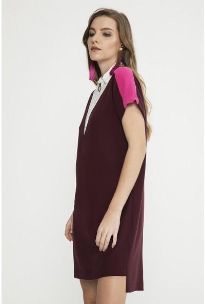 Just Like You 009 Bordo Elbise