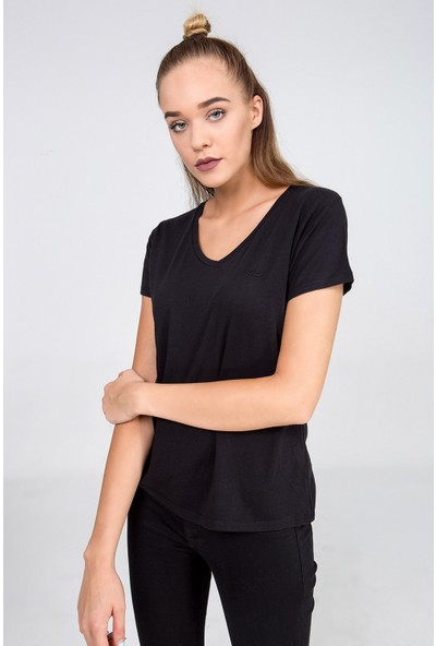 LTB Kadın Asyon T-Shirt Siyah
