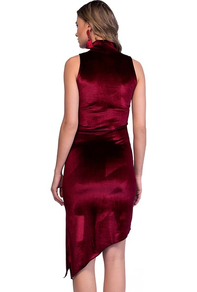Quincey Kadife Çapraz Kesim Elbise