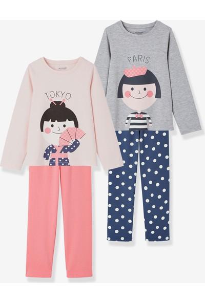 Vertbaudet Kız Çocuk 2'li Pijama Set