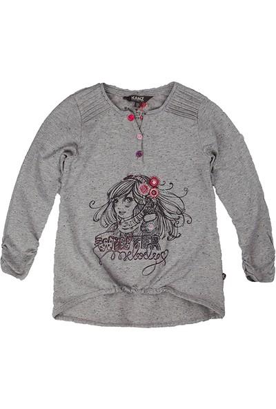 Kanz Kız Çocuk Uzun Kol Tişört