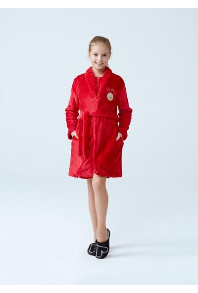 Dagi Kız Çocuk Sabahlık Kırmızı K0217K0085