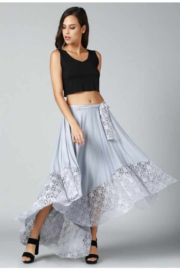Quincey Women's Lace Details Skirt