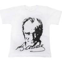 Modakids Arkası İmzalı Çift Baskılı Atatürk T-Shirt 019-1928-027