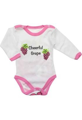 Modakids Kız Bebek Üzümlü Uzun Kol Body 035-206320-022