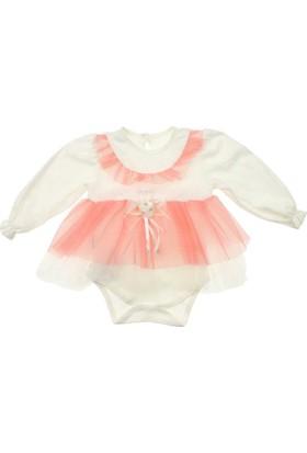 Modakids Kız Bebek Fırfırlı Tüllü Bodyli Elbise 035-226883-003