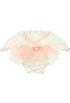 Modakids Kız Bebek Fırfırlı Tüllü Bodyli Elbise 035-226883-035