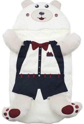Modakids Erkek Bebek Ayılı Kundak Battaniye 051-53718-028