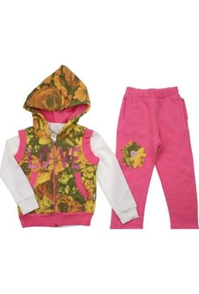 Modakids Kız Çocuk Kışlık 3'lü Yelekli Takım 058-114-021