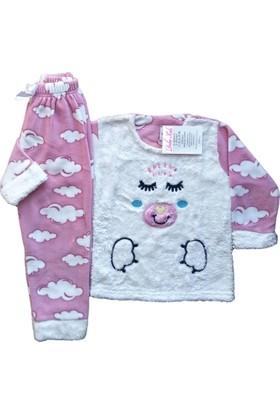 DobaKids Kız Çocuk Polar Pijama Takımı