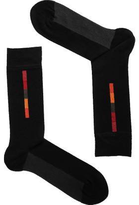 TheDON Siyah Üzeri Desenli Bamboo Erkek Çorap 3'lü Paket