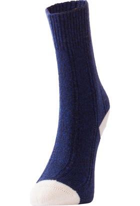 TheDON Kadın Topuk Renkli Yün Çorap 3'lü Paket