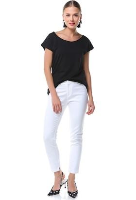 Nil Geniş Yaka Basic Bluz