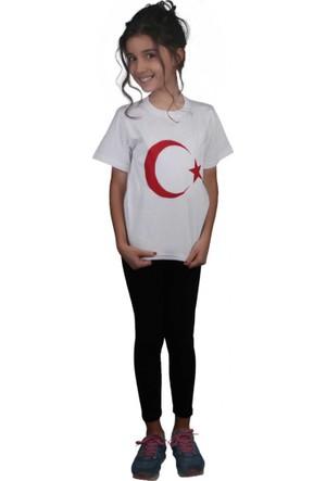 Modakids Unisex Çocuk Baskılı Beyaz T-Shirt 019-1925-027