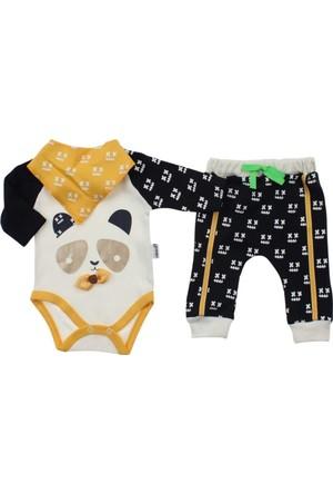 Modakids Erkek Bebek Pandalı 3'lü Zıbın Takım 035-222130-001