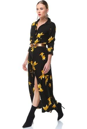 Nil Lale Desenli Elbise Lena