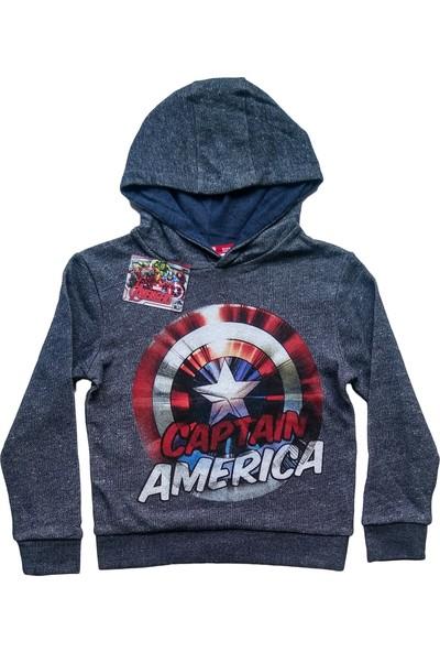 DobaKids Çocuk Captain America Sweatshirt %100 Orjinal Marvel