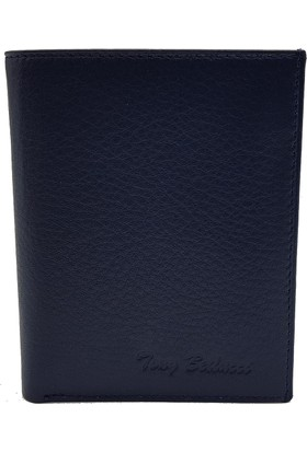 Tony Bellucci T137-1000 Lacivert Gerçek Deri Erkek Cüzdan