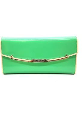 Tony Bellucci T518-919 Yeşil Gerçek Deri Bayan Cüzdanı