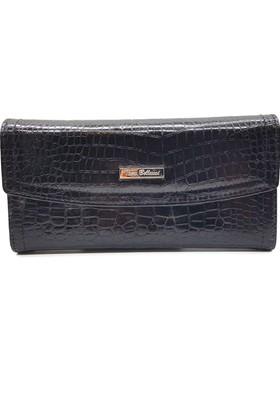 Tony Bellucci T523-945 Kroko Siyah Gerçek Deri Bayan Cüzdanı