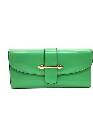 Tony Bellucci T522-919 Yeşil Gerçek Deri Bayan Cüzdanı