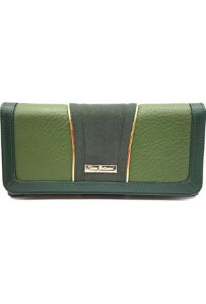 Tony Bellucci T613-961 Yeşil Gerçek Deri Bayan Cüzdanı