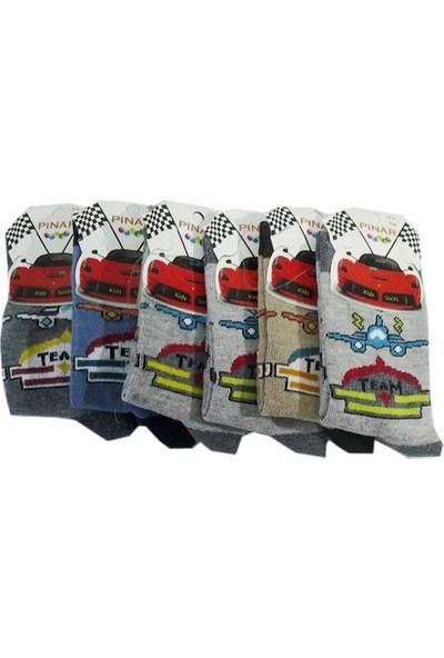 Ertuğ Erkek Çocuk Çorap 6'lı Paket Asorti