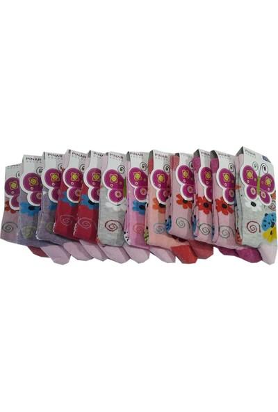 Ertuğ Kız Çocuk Çorap 12'li Paket Asorti