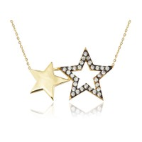 Swandia İkili Yıldız Kolye SWN04589