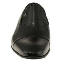 Fosco 6518 Sade Mokasen Klasik Siyah Erkek Ayakkabı