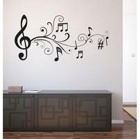 I Love My Wall Müzik Notalar (4) Duvar Sticker -2 ( Sticker hediyeli! )