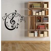 I Love My Wall Müzik Notalar (5) Duvar Sticker -2 ( Sticker hediyeli! )